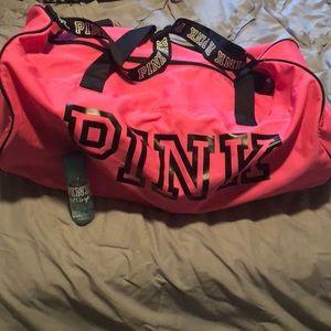 PINK large duffel bag